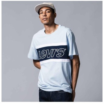 リーバイス カラーブロックTシャツ JERSEY COLORBLOCK SKYWAY/ WHITE/ DRESS メンズ MULTI-COLOR M- 【Levi's】