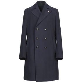 《期間限定 セール開催中》LARDINI メンズ コート ダークブルー 50 コットン 100%