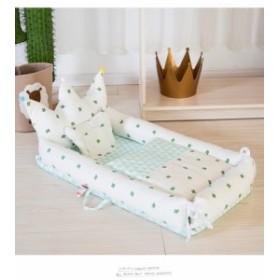 豪華セット ベビー ベッド インベッド 赤ちゃん ベッド 添い寝 ベッド 綿100% 昼寝 オムツ換え 枕+布団付き 転落防止 取り外し 育児グ