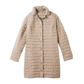 うすカル吸光発熱中綿テーラー衿コート(オトナスマイル) (大きいサイズレディース)コート,plus size
