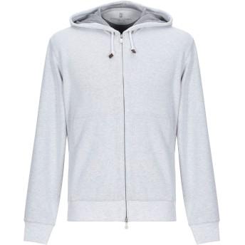 《期間限定セール開催中!》BRUNELLO CUCINELLI メンズ スウェットシャツ ライトグレー L コットン 94% / ポリウレタン 6%