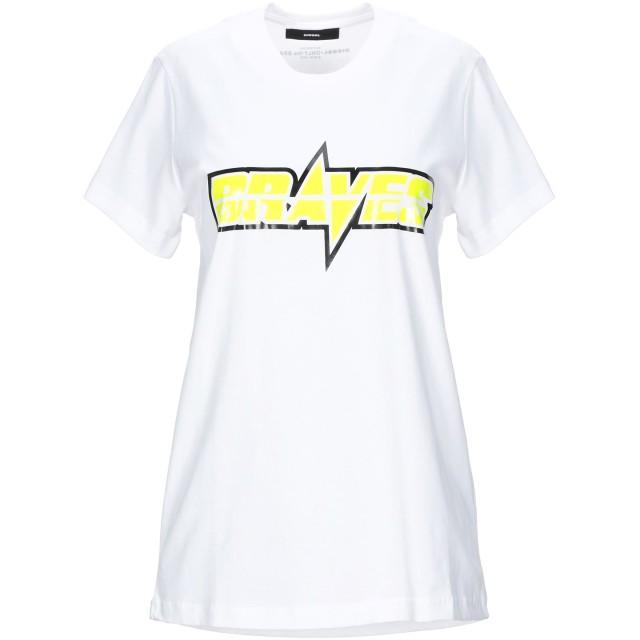 《セール開催中》DIESEL レディース T シャツ ホワイト S コットン 100%