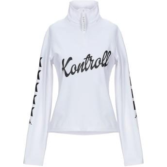 《セール開催中》KAPPA KONTROLL レディース スウェットシャツ ホワイト S ポリエステル 78% / ポリウレタン 22%