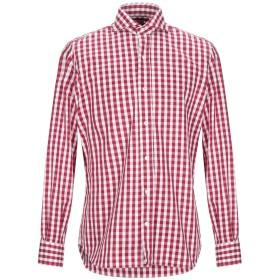 《セール開催中》MAZZARELLI メンズ シャツ レッド 39 コットン 100%