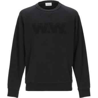 《期間限定セール開催中!》WOOD WOOD メンズ スウェットシャツ ブラック S コットン 100%