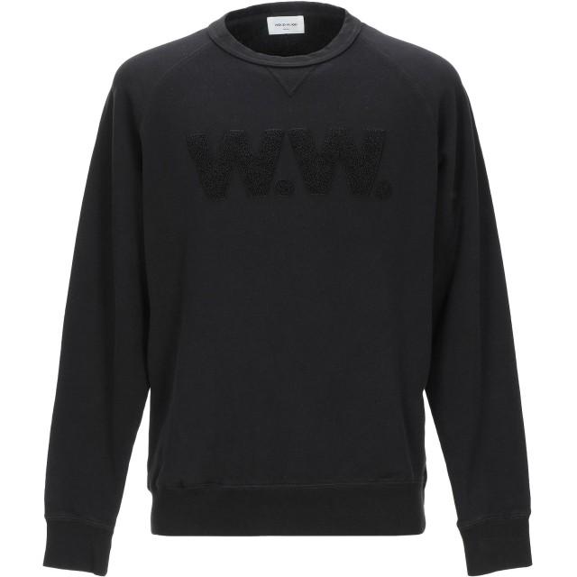 《セール開催中》WOOD WOOD メンズ スウェットシャツ ブラック S コットン 100%
