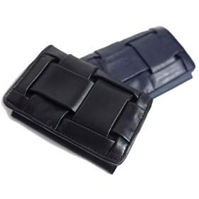 [キャリーネスト] 二つ折り カードケース 名刺入れ 牛革 レザー メンズ レディース A ID NEST (GS50002)S-NAVY/ネイビー