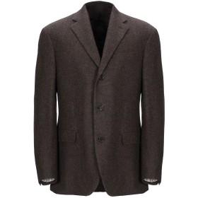 《期間限定セール開催中!》CARUSO メンズ テーラードジャケット ダークブラウン 46 ウール 100%