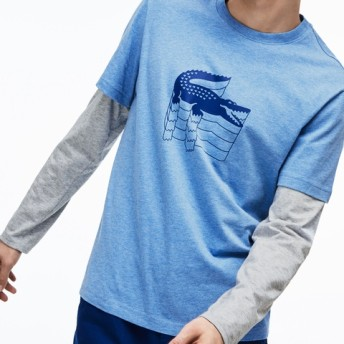 3DロゴプリントクルーネックTシャツ