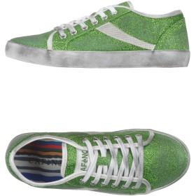 《セール開催中》CAFNOIR レディース スニーカー&テニスシューズ(ローカット) グリーン 35 紡績繊維