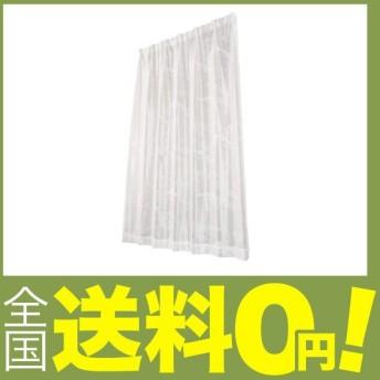 ユニベール レースカーテン ドルフィンレース ホワイト 幅100cm×丈198cm 2枚組