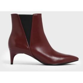 【2019 FALL 新作】キトゥンヒール チェルシーブーツ / Kitten Heel Chelsea Boots (Red)