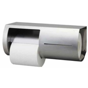 リクシル INAX トイレ用 棚付ワンタッチ式紙巻器 両減り防止タイプ 左仕様[KF-66L](ホワイト, L:左側取り付け)
