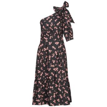 《セール開催中》ANNARITA N TWENTY 4H レディース 7分丈ワンピース・ドレス ブラック 40 コットン 100%