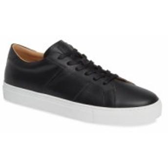 グレイツ GREATS メンズ スニーカー シューズ・靴 Royale Sneaker Black Flat Leather