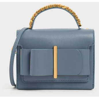 【2019 FALL 新作】ボウディテールバッグ / Bow Detail Bag (Slate Blue)