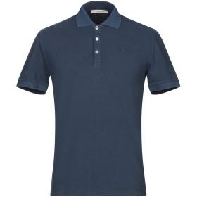 《期間限定セール開催中!》WOOL & CO メンズ ポロシャツ ダークブルー M コットン 100%