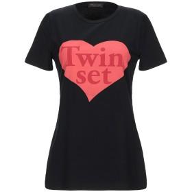 《セール開催中》TWINSET レディース T シャツ ブラック S コットン 92% / ポリウレタン 8%