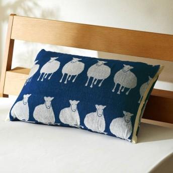 ベルメゾン 北欧調デザインののびのび枕カバー 「ひつじ」