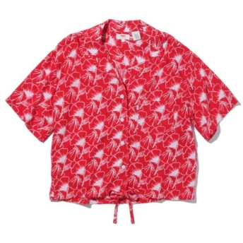 【50%OFF】 リーバイス PALOMA シャツ FLIPPED FLORAL BRILLIANT RED レディース REDS S- 【Levi's】 【タイムセール開催中】