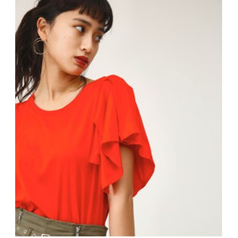 【SLY:トップス】TUCK FRILL CUT TOPS