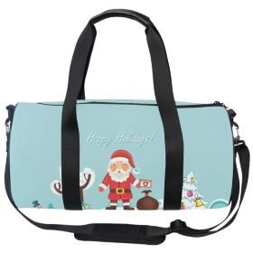 ドラムバッグ 大容量 2way ボストンバッグ バッグパック リュック ショルダーバッグ 防水 クリスマスサンタ スポーツ 旅行 アウトドアー