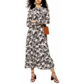 トップショップ TOPSHOP レディース ワンピース ワンピース・ドレス Floral Print Long Sleeve Prairie Dress Blush Multi