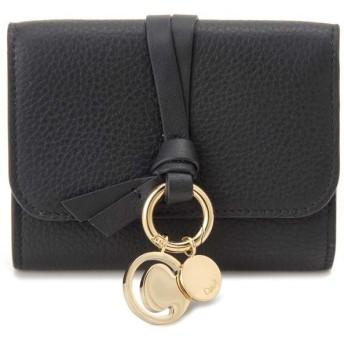 クロエ Chloe 三つ折り財布 レディース 17AP945 H9Q 001 ALPHABET アルファベット ブラック
