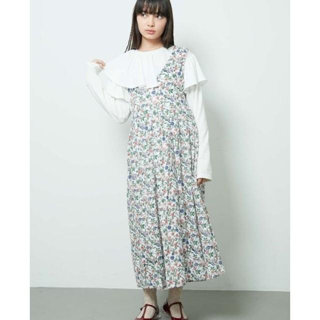 【メリージェニー/merry jenny】 flowerジャンパーワンピース