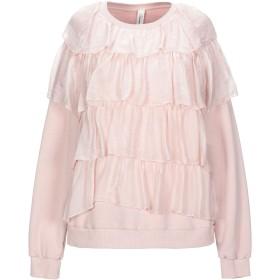 《セール開催中》SOUVENIR レディース スウェットシャツ ピンク S コットン 60% / ポリエステル 40%