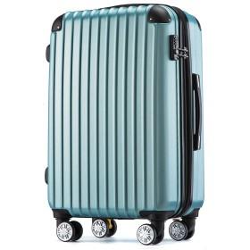 [トラベルハウス] Travelhouse スーツケース 容量拡張ファスナー式 SS機内持ち込み ストッパー付き TSAロック 超軽量 6色3サイズ【一年安心保証】 (SS, ゴールデンブルー)