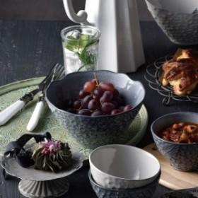 リアン Lien ボウルL 3色  【アンティーク 洋食器 おしゃれ おもてなし 日本製 美濃焼 食洗機可 電子レンジ可 クラシカル】