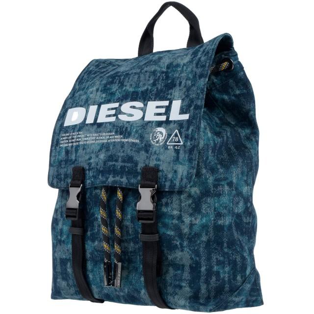 《セール開催中》DIESEL メンズ バックパック&ヒップバッグ ブルー 紡績繊維