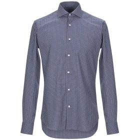 《期間限定セール開催中!》GHIRARDELLI メンズ シャツ ブルーグレー 39 コットン 100%
