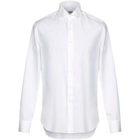 《期間限定セール開催中!》ALESSANDRO GHERARDI メンズ シャツ ホワイト 44 コットン 100%