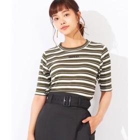[マルイ]【セール】刺繍ロゴ5分袖リブTシャツ/ウィゴー(レディース)(WEGO)