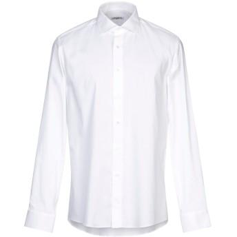 《9/20まで! 限定セール開催中》UNGARO メンズ シャツ ホワイト 44 コットン 97% / ポリウレタン 3%