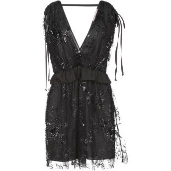 《セール開催中》TWENTY EASY by KAOS レディース ミニワンピース&ドレス ブラック 38 ポリエーテル 100%