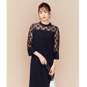 S size ONWARD(小さいサイズ) / エスサイズオンワード 【PRIER】レーススリーブサックワンピース ドレス