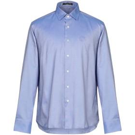 《期間限定セール開催中!》ROBERTO CAVALLI メンズ シャツ ブルー 43 コットン 100%