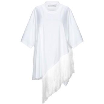 《9/20まで! 限定セール開催中》MARQUES' ALMEIDA レディース T シャツ ホワイト XS コットン 100% / ポリエステル