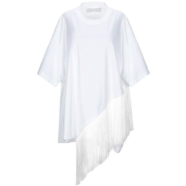 《セール開催中》MARQUES' ALMEIDA レディース T シャツ ホワイト XS コットン 100% / ポリエステル
