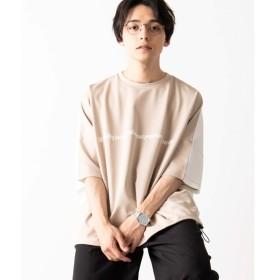 [マルイ]【セール】ポンチカラー切替ドルマンTシャツ/ウィゴー(メンズ)(WEGO)