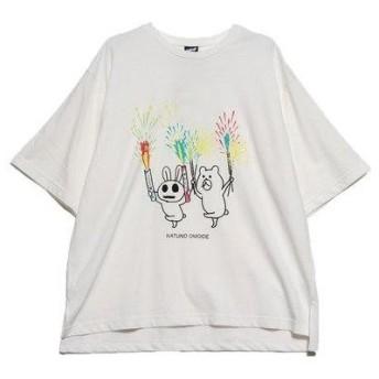 スカラー ScoLar 夏の思い出半袖Tシャツ (オフホワイト)