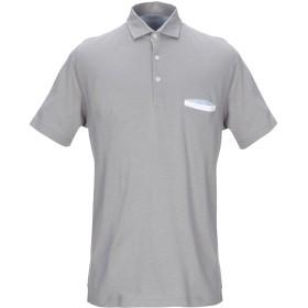 《セール開催中》GRAN SASSO メンズ ポロシャツ グレー 50 コットン 100%
