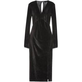 《セール開催中》SH by SILVIAN HEACH レディース 7分丈ワンピース・ドレス ブラック XS ポリエステル 95% / ポリウレタン 5%