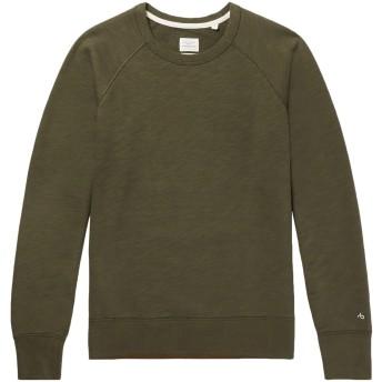 《期間限定セール開催中!》RAG & BONE メンズ スウェットシャツ ミリタリーグリーン L コットン 100%