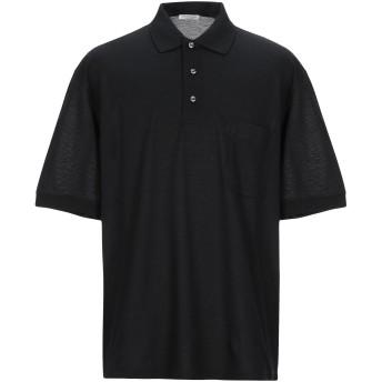 《期間限定セール開催中!》GRAN SASSO メンズ ポロシャツ ブラック 56 コットン 100%