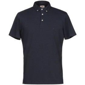 《期間限定セール開催中!》BAGUTTA メンズ ポロシャツ ダークブルー S コットン 90% / ポリウレタン 10%