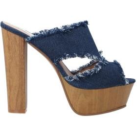 《セール開催中》SEXY WOMAN レディース ミュールサボ ブルー 37 紡績繊維
